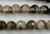CAG5108 15.5 inches 10mm faceted round line agate beads wholesale