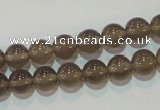 CAG5241 15.5 inches 8mm round Brazilian grey agate beads wholesale