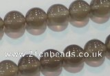 CAG5242 15.5 inches 10mm round Brazilian grey agate beads wholesale