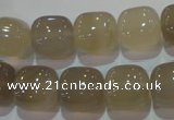 CAG5261 15.5 inches 14*14mm square Brazilian grey agate beads