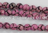 CAG5347 15.5 inches 8mm faceted round tibetan agate beads wholesale
