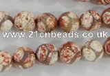 CAG5358 15.5 inches 10mm faceted round tibetan agate beads wholesale