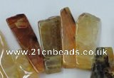 CAG5452 15.5 inches 16*20mm - 17*70mm freeform agate gemstone beads