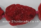 CAG5482 15.5 inches 30*40mm freeform agate gemstone beads