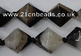 CAG5495 15.5 inches 18*18mm faceted bicone agate gemstone beads