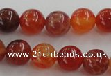 CAG5562 15.5 inches 8mm round natural fire agate beads wholesale