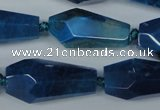 CAG5571 15 inches 15*20mm - 15*32mm faceted nuggets agate beads