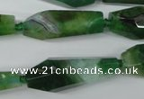 CAG5573 15 inches 15*25mm - 15*45mm faceted nuggets agate beads