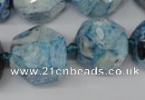 CAG5598 15 inches 20mm faceted nuggets agate gemstone beads