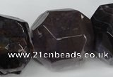 CAG5601 15 inches 25*30mm faceted nuggets agate gemstone beads
