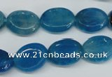 CAG5621 15 inches 13*16mm oval dragon veins agate beads wholesale