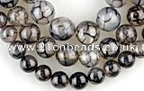 CAG57 5pcs 10&12&14mm round dragon veins agate beads