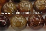 CAG6050 15.5 inches 18mm round dragon veins agate beads