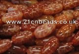 CAG606 15.5 inches 15*20mm rice natural fire agate beads wholesale