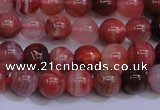 CAG6111 15.5 inches 6mm round south red agate gemstone beads