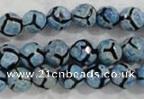CAG6160 15 inches 8mm faceted round tibetan agate gemstone beads