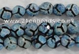 CAG6163 15 inches 14mm faceted round tibetan agate gemstone beads