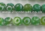 CAG6391 15 inches 8mm faceted round tibetan agate gemstone beads