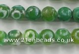 CAG6393 15 inches 12mm faceted round tibetan agate gemstone beads