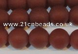 CAG6555 15.5 inches 10mm round matte red agate beads wholesale