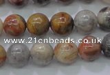 CAG6672 15.5 inches 8mm round natural crazy lace agate beads