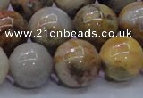 CAG6676 15.5 inches 16mm round natural crazy lace agate beads