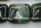CAG6784 15.5 inches 25*25mm square Indian agate beads wholesale