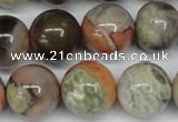 CAG7006 15.5 inches 16mm round ocean agate gemstone beads