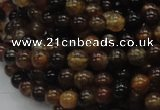 CAG702 15.5 inches 6mm round dragon veins agate beads wholesale