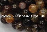 CAG703 15.5 inches 10mm round dragon veins agate beads wholesale