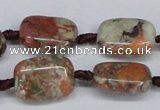 CAG7030 15.5 inches 13*18mm rectangle ocean agate gemstone beads
