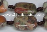 CAG7032 15.5 inches 18*25mm rectangle ocean agate gemstone beads