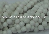 CAG704 15.5 inches 4mm round white agate gemstone beads wholesale