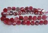 CAG7351 15.5 inches 14*15mm - 16*18mm octagonal dragon veins agate beads