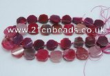 CAG7357 15.5 inches 18*20mm - 20*22mm octagonal dragon veins agate beads