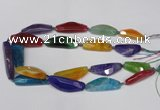 CAG7417 15.5 inches 16*35mm - 18*50mm dragon veins agate beads