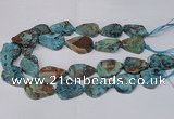 CAG7434 15.5 inches 20*30mm - 25*35mm freeform ocean agate beads