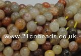 CAG762 15.5 inches 6mm round yellow agate gemstone beads wholesale