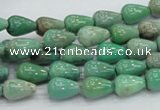 CAG7895 15.5 inches 8*10mm teardrop grass agate beads wholesale