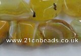 CAG8503 15.5 inches 15*20mm - 18*25mm freeform dragon veins agate beads