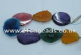 CAG8534 15.5 inches 40*45mm - 45*55mm freeform dragon veins agate beads