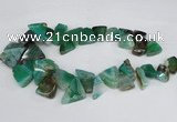 CAG8545 Top drilled 15*20mm - 25*30mm freeform dragon veins agate beads
