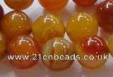 CAG863 15.5 inches 16mm round agate gemstone beads