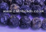 CAG8653 15.5 inches 10mm round matte blue ocean agate beads