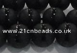 CAG8678 15.5 inches 12mm round matte tibetan agate gemstone beads