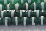 CAG8710 15.5 inches 6mm round matte tibetan agate gemstone beads