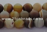 CAG8725 15.5 inches 6mm round matte madagascar agate beads