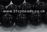 CAG8739 15.5 inches 14mm round matte tibetan agate gemstone beads
