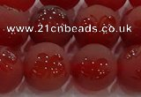 CAG8915 15.5 inches 10mm round matte red agate beads wholesale