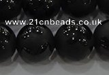 CAG8927 15.5 inches 10mm round matte black agate beads wholesale